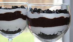 Oreo Pudding in a wine glass