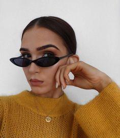 WHO CUTIE Small Oval Sunglasses Women Cat Eye Brand Designer Vintage Retro Skinny Cateye Frame Tiny Sun Glasses Shades . Sunglasses For Your Face Shape, Cute Sunglasses, Sunglasses Women, Sunnies, Summer Sunglasses, Vintage Sunglasses, Fake Glasses, Cat Eye Glasses, Glasses Sun