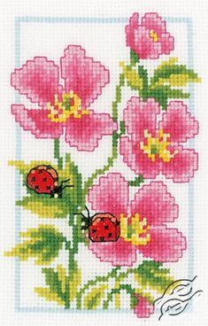 Pink Geranium - Cross Stitch Kits by VERVACO - PN-0146886