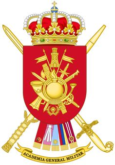Archivo:Coat of Arms of the Spanish Army General Military Academy. Asian History, British History, Strange History, History Facts, Historical Women, Historical Photos, Academia Militar, Military Academy, Haunted History