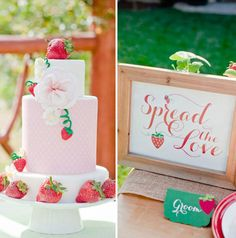 How sweet is this strawberry-themed bridal shower?
