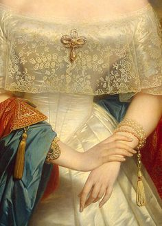 Grand Duchess Olga Nikolaevna by Nicaise De Keyser, 1840s (detail)