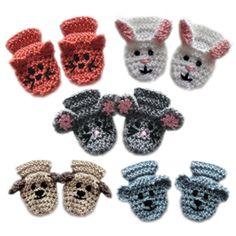 Crochet Spot » Blog Archive » Crochet Pattern: Animal Baby Mittens - Crochet Patterns, Tutorials and News