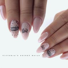 Pink Manicure Prepares For The Upcoming Summer Vacation - Page 8 of 20 - Dazhimen Aycrlic Nails, Manicure And Pedicure, Cute Nails, Pretty Nails, Hair And Nails, Victoria Secret Nails, Valentine's Day Nail Designs, Nails Design, Nagellack Trends