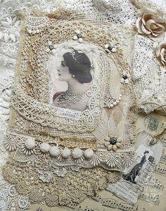 stunning fabric collage