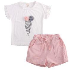 WARMSHOP Baby Boys Set of 2 Organic Shortalls Stars Printed Stylish Tops Blouse and Shorts Pants Playwear Daily Sets