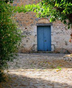 Door, Kardamyli, Greece by Byrdiegyrl