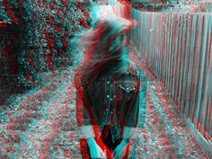 My sister (kate) in 3D.