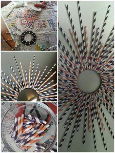 Crafty Sunday! Paper straw wreath for Halloween.
