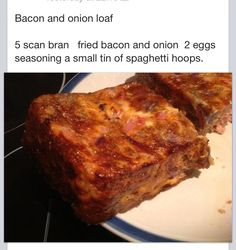 Bacon & Onion scan bran loaf Slimming World syn free just a hex b