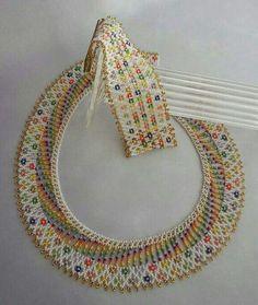 Seed Bead Necklace, Beaded Earrings, Seed Beads, Crochet Necklace, Beaded Necklaces, Bead Jewellery, Beaded Jewelry, Handmade Jewelry, Embroidery Jewelry