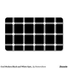 Trendy and modern black and white optical illusion Double-Sided standard business cards (Pack of Cool Business Cards, Optical Illusions, Things To Come, Black And White, Cool Stuff, Create, Modern, How To Make, Prints