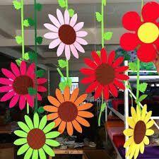 School Decoration Ideas for Spring Season - Craft Class Decoration, School Decorations, Flower Decorations, Board Decoration, Spring Art, Spring Crafts, Classroom Design, Classroom Decor, Diy And Crafts