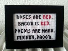 Artsy Fartsy: mmmm, bacon. cross stitch. broderi.