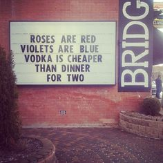 My kind of romantic poem