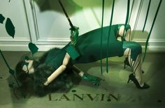 In yet another swift window dressing move, Lanvin presents its new Splash installation, shockingly showcasing its Fall 2012 collection . This stop-you-in-your-tracks visual display is World Of Color, Color Of Life, Vitrine Design, Window Display Design, Window Displays, Relaxing Colors, Different Shades Of Green, Branding, Visual Display