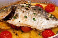 dorada-la-cuptor Fish Recipes, My Recipes, Tasty, Yummy Food, Food And Drink, Pork, Turkey, Candyland, Cooking