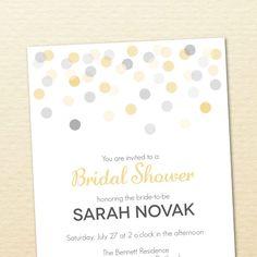 Printable Bridal Shower Invitation -- Confetti Collection No. 5. $15.00, via Etsy.