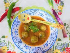 Reteta culinara Ciorba cu verzisoare de  Bruxelles din categoria Mancaruri de post. Specific Romania. Cum sa faci Ciorba cu verzisoare de  Bruxelles Chana Masala, Ethnic Recipes, Food, Meal, Essen, Hoods, Meals, Eten