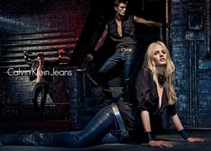 Lara Stone Is Bondage Sexy in Calvin Klein Jeans Fall 2012 Campaign by Steven Klein