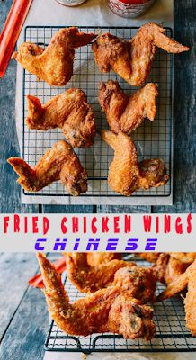 Fried Chicken Wings Chinese - Takeout Style - FOODS RECIPE Chicken Wing Recipes, Baked Chicken, Chicken Ideas, Chinese Fried Chicken Wings, Chinese Takeaway, Chinese Food, Vegetarian Recipes, Cooking Recipes, Sour Cream Chicken