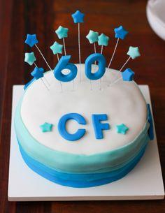 60 birthday cake / bolo 60 anos