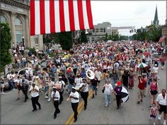 Great American Brass Band Festival, Danville, Kentucky. Our Wagons and Wheels entrants get to walk in this parade!