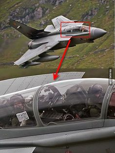 "RAF Tornado Pictured at Low Level transiting ""The Mach Loop"", Wales - Read the Message Held By The Weapons Operative !!"