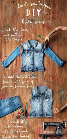 Хенд мейд: Деним – переделка джинсовой одежды своими руками