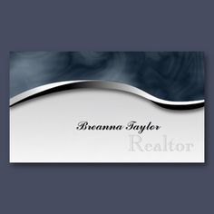 Smoky Zebra Print Realtor Realestate Business Card  For more designs like this, visit www.pamsdesigns.ca or message pamsdesigns@live.ca.