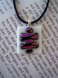 Puzzle Piece Pendant for Autism (pink/purple) From artisticflair Puzzle Piece Crafts, Puzzle Art, Puzzle Pieces, Puzzle Piece Necklace, Autism Support, Autism Awareness Month, Autism Speaks, Craft Club, Asd