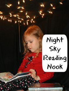 Night Sky Reading Nook (and many other fun ideas from Fantastic Fun and Learning). Post also hosts a themed linky for more night sky/moon ideas. Good Night Moon, Night Time, Fun Learning, Teaching Kids, Teaching Resources, Read A Thon, Nighttime Sky, Reading Centers, Reading Themes