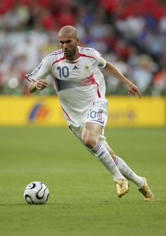 This is Zinedine Zidane is a well-known soccer player that led France to a world cup finals appearance. He is among the best players to ever play the game.