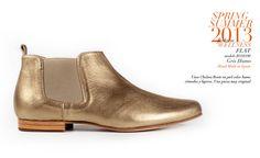 Chelsea boots en tono metalizado