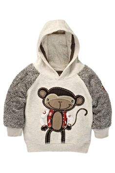 Buy Monkey Appliqué Hoody (3mths-6yrs) from the Next UK online shop