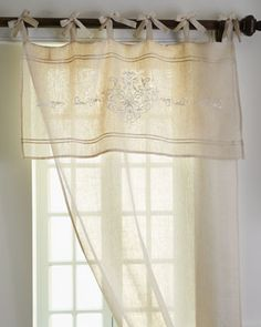 """Each """"Classica"""" Curtain by Pom Pom at Home at Horchow. Love these for some kitchen windows. Very French"""