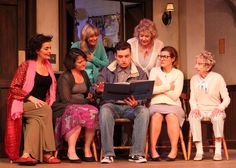 """The cast of """"Calendar Girls"""":  Jacqui Hubbard, (Playhouse Artistic/Executive Director and director of the production); Beverley Taylor (Ivoryton's Company Manager), Vickie Blake, Danielle Bonanno, Erik Bloomquist, Victoria Bundonis*, R. Bruce Connelly*, Lily Dorment*, David Edwards*, Katrina Ferguson*, Maggie McGlone Jennings, and Maria Silverman*."""