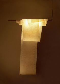 心がほっとする和紙の灯り、 「October Moon クスノキヒデオの照明具展」が開催。