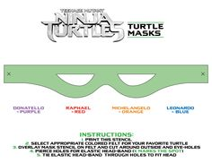 Need a last minute #Halloween costume? Thank Donatello for whipping up these rad cut-out #TMNTmovie masks! Which Teenage Mutant Ninja Turtles character will you be?