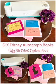 Create a beautiful and customized DIY Disney autograph book and matching clipboard using your Cricut Explore Air 2.