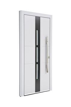 Sternstunden Eingangstüre NESO 5 - Aluminiumtüre außen weiß. Besuchen Sie unseren Schauraum in Gramastetten - dort haben wir einige unserer Haustürmodelle ausgestellt.   #Fensterschmidinger #doors #türen #alu #gramastetten #oberösterreich