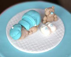 Bebé ducha topper Fondant bebé niño BAUTIZO Bautismo fondant