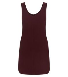 Burgundy Textured Pinafore Dress  | New Look