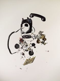 Disassembly by Todd Mclellan #Photography #Todd_Mclellan #Telephone