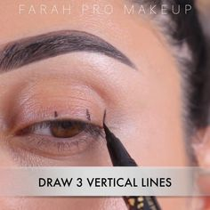Eyeliner Hacks, Cat Eye Eyeliner, Eyeliner For Hooded Eyes, Makeup Tutorial Eyeliner, Makeup Looks Tutorial, Hooded Eye Makeup, Cat Eye Makeup, Skin Makeup, Eyeshadow Makeup