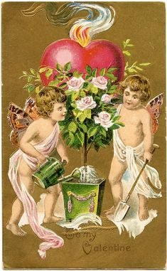 A collection of 8 Vintage Valentine Fairy Images. Valentine's Day isn't just for Cherubs, these cute Fairies are ready to spread some love as well!