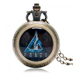 Delta Force, Pocket Watch, Bronze, Watches, Accessories, Wristwatches, Clocks, Pocket Watches, Jewelry Accessories