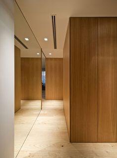 Home Decoration Cheap Ideas Product Interior Work, Interior Design Studio, Modern Interior Design, Interior Architecture, Elevator Lobby Design, Flur Design, Timber Panelling, Hallway Designs, Wood Panel Walls