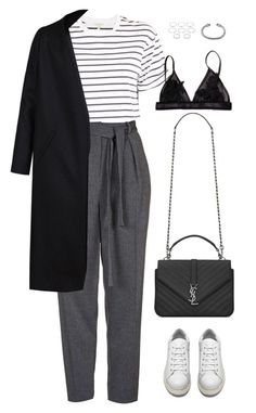 """Sans titre #914"" by romane-inspiration ❤️ liked on Polyvore featuring rag & bone, Topshop, Acne Studios, Non, Yves Saint Laurent, David Yurman and Forever 21"