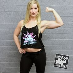 I'm a GYM UNICORN - Women's Boxy Tank by Unicorn Muscle